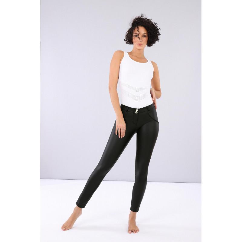 WR.UP® Ecoleder - Low Waist Skinny - Black - N0