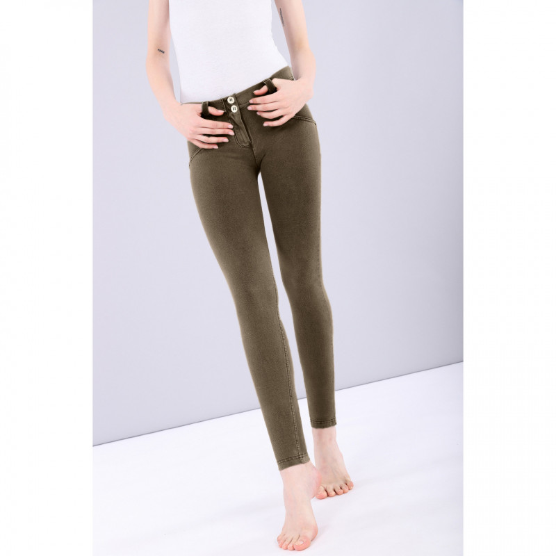 WR.UP® - Regular Waist Skinny - Garment Dyed - Ivy Green - V740