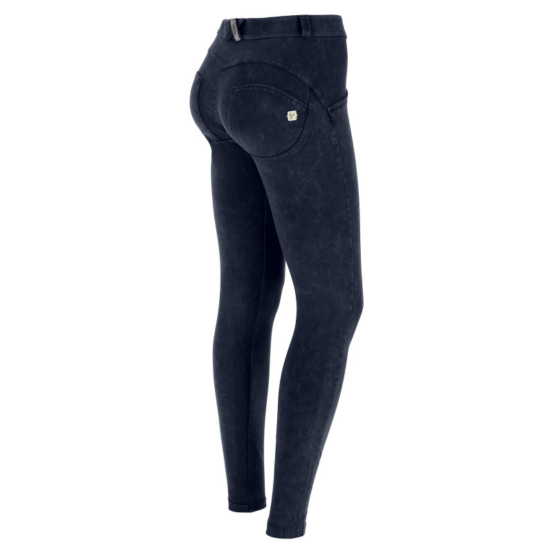 WR.UP® - Regular Waist Skinny - Marmor-Optik - Navy Blue - B940