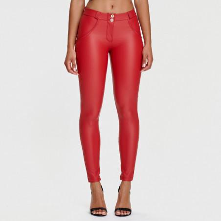 WR.UP® Ecoleder - Regular Waist Skinny - Deep Claret Red - R680