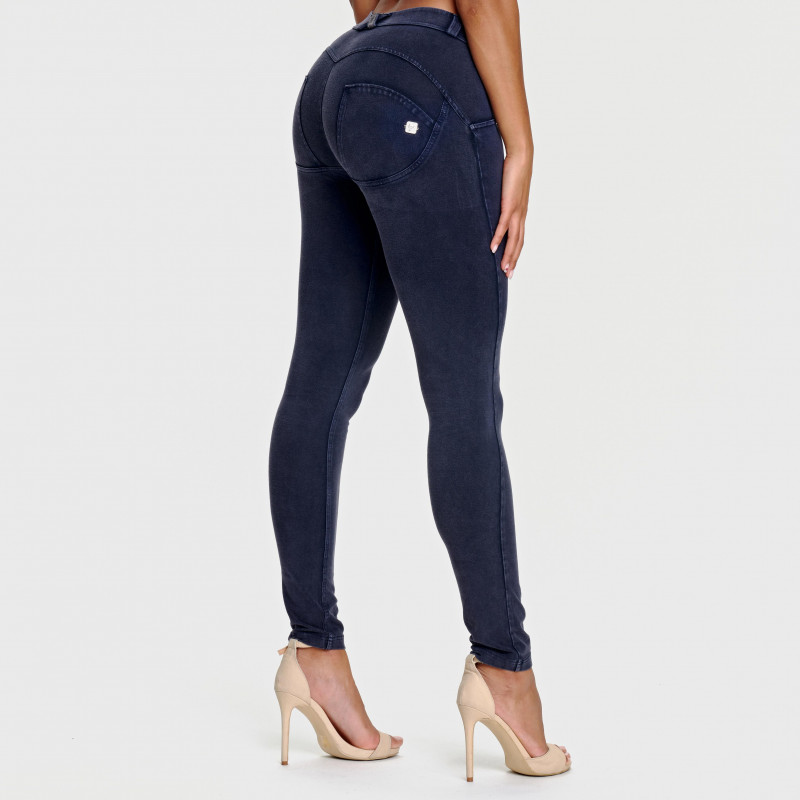WR.UP® - Regular Waist Skinny - Used Look - Navy Blue - B940