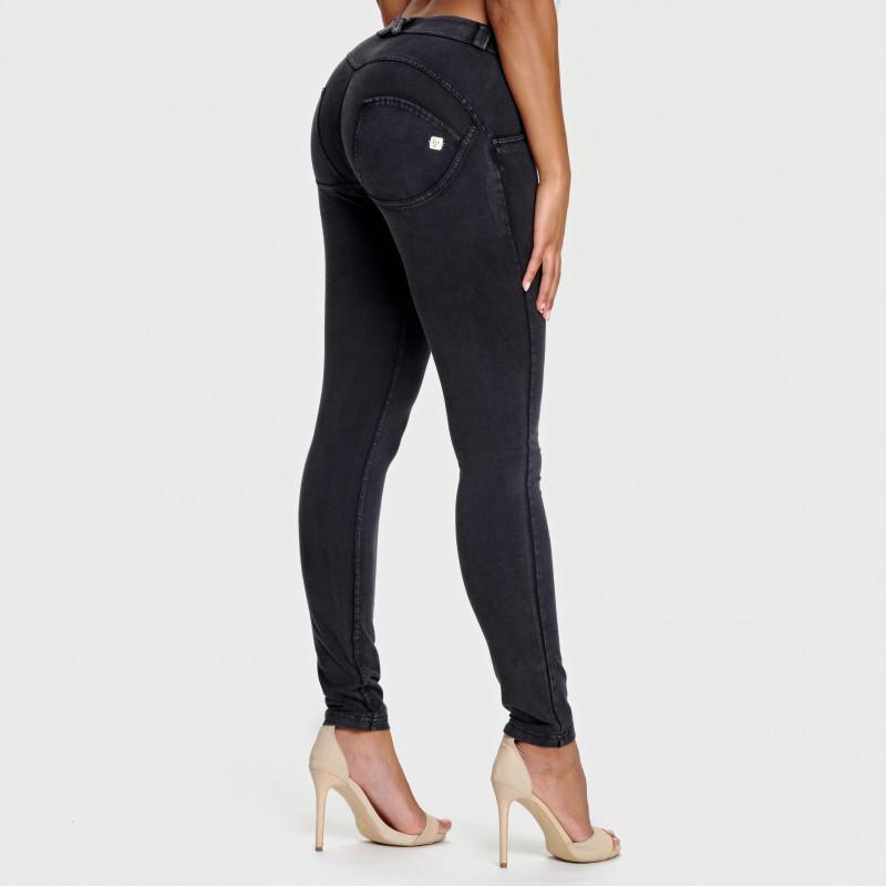 WR.UP® - Regular Waist Skinny - Used Look - Black - N0