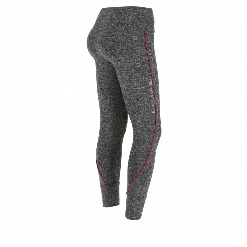 Leggings SUPERFIT D.I.W.O.® - 7/8 - Melange Dark Grey - Fuchsia Red - N26QF