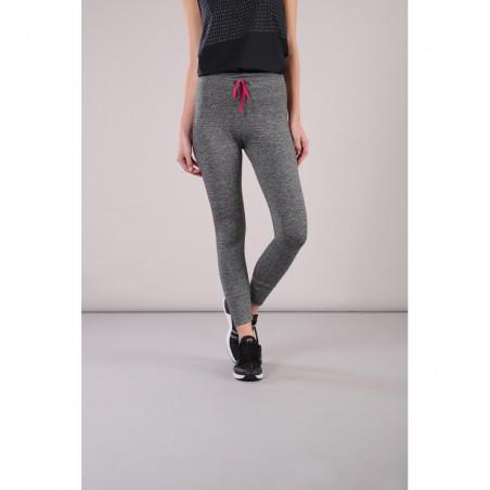 Leggings SUPERFIT D.I.W.O.® - 7/8 - Melange Dark Grey - Fuchsia Red - N26QF