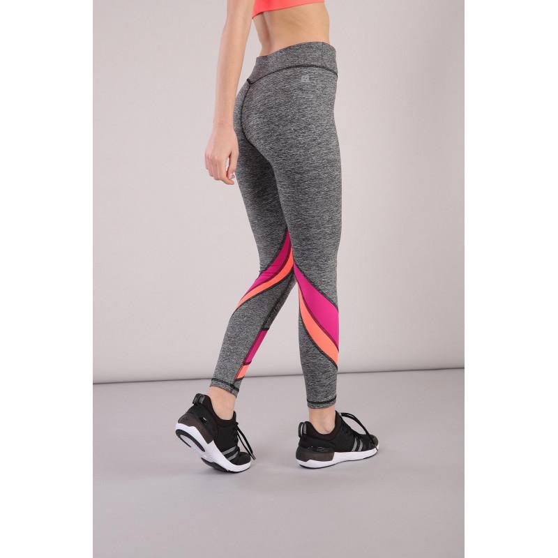 Leggings SUPERFIT D.I.W.O.® - 7/8 - Melange Anthrazit - Fuchsia-Coral - NQFA