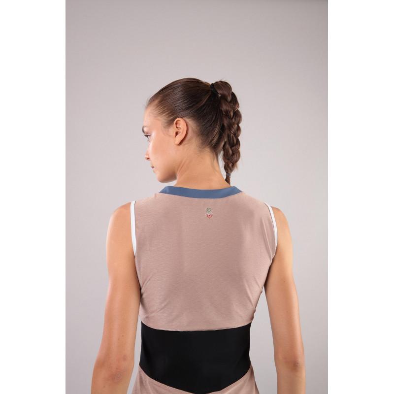 Top mit Reißverschluss - Made in Italy - Skin Pink-Blue - P97B