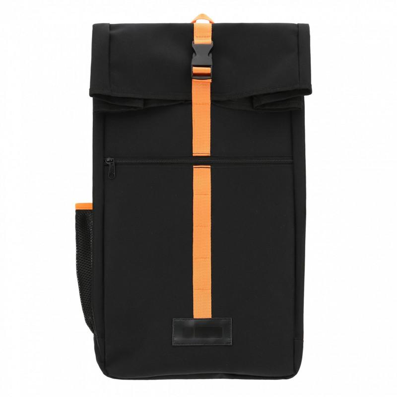 Beutel-Rucksack mit Kontraststreifen - Black Orange - NA
