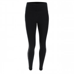 Leggings SUPERFIT - Regular Waist - 7/8 - Beschichtung in Lederoptik - Paspelierung aus Reflex