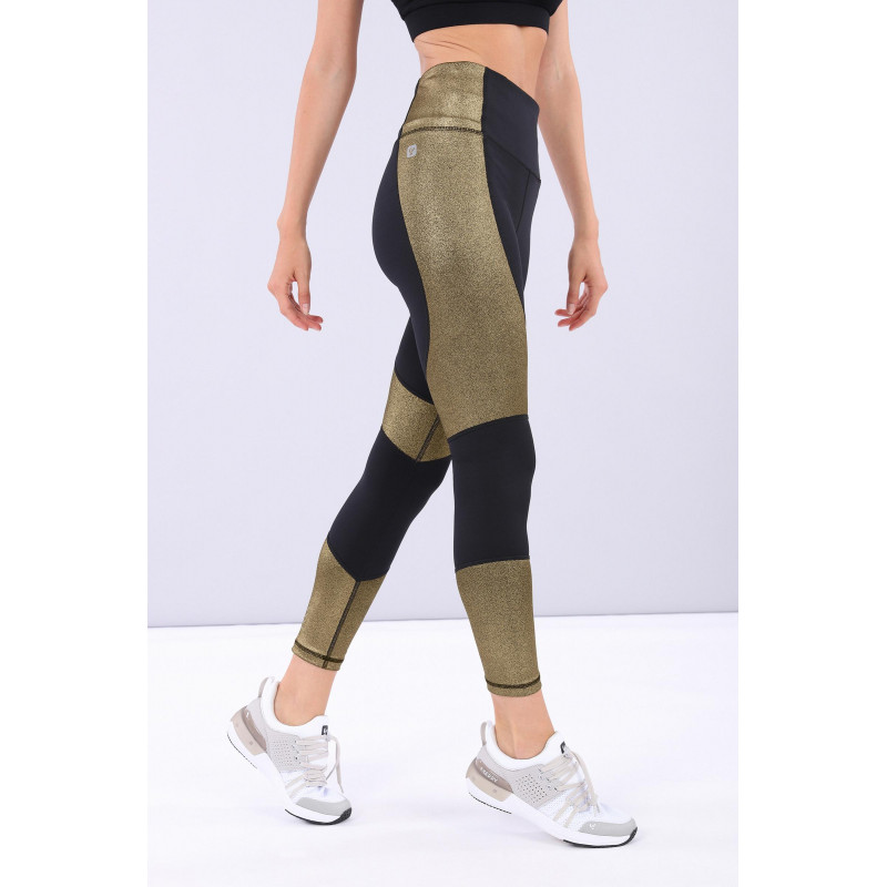 Leggings SUPERFIT - D.I.W.O.® - 7/8 mit Lurex-Goldeinsätzen - NNB2