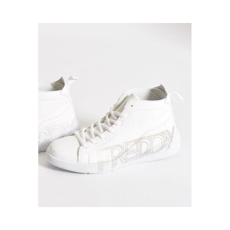Damenschuh hoch - White - Silver - WS