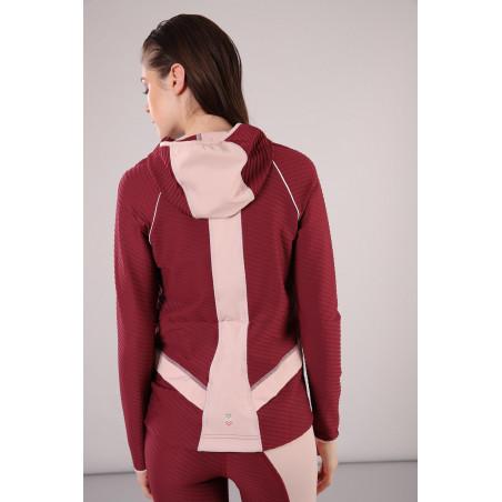 Yoga Sweatshirt - mit Kapuze - Made in Italy - Cordovan - Cameo Rosé - K85P0