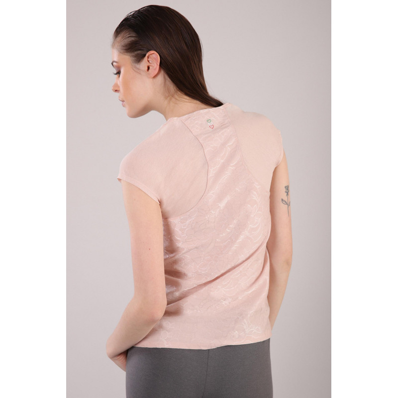 Yoga T-Shirt - Made in Italy - Cameo Rosé - P1060