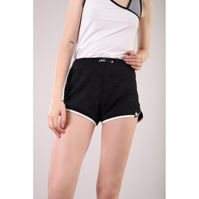 Yoga Jacquard-Shorts - Made in Italy - Black - White - NW0
