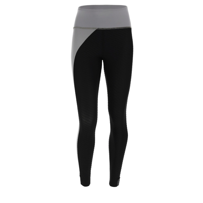 Leggings SUPERFIT - 7/8 - Made in Italy - Frost Grey - Black - NG370
