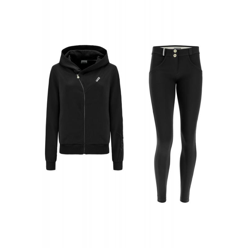 WR.UP®-IN- Freizeitanzug - mit WR.UP® Hose und Kapuzensweatshirt - Black - N0