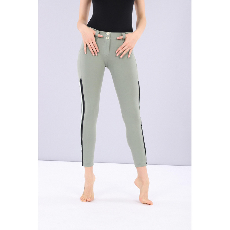 WR.UP® - 7/8 Regular Waist Skinny - Kontraststreifen - Sea Spray - V460