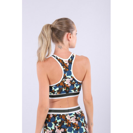Yoga Top - Made in Italy - Flowers - BMP0