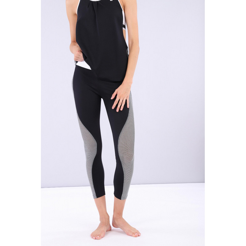 Yoga Leggings SUPERFIT - Made in Italy - Black - White - NW0