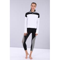 Bauchfreies Oversize-T-Shirt - G560 - Gray Pinstripe