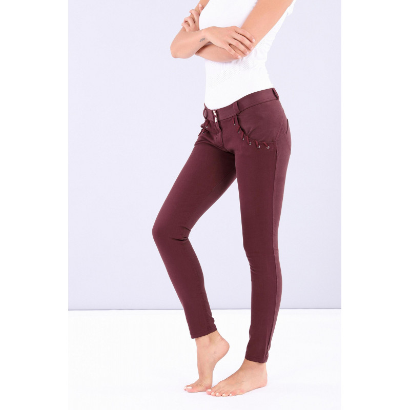 WR.UP® - Regular Waist Super Skinny - Verzierte Taschen - Tawny Port - K830
