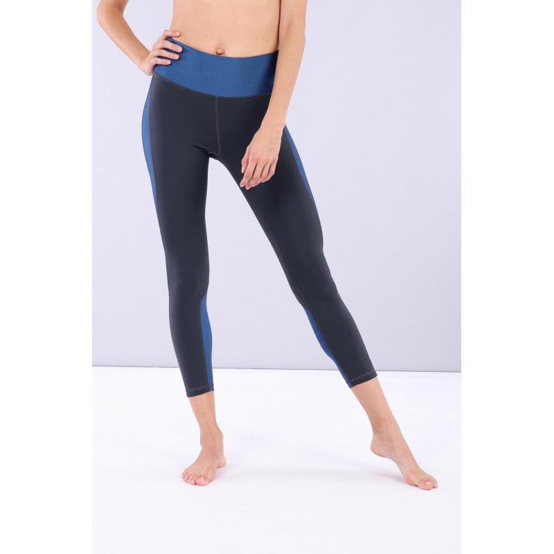 Yoga Leggings SUPERFIT - Made in Italy - Shimmering Night Blue - B84B0