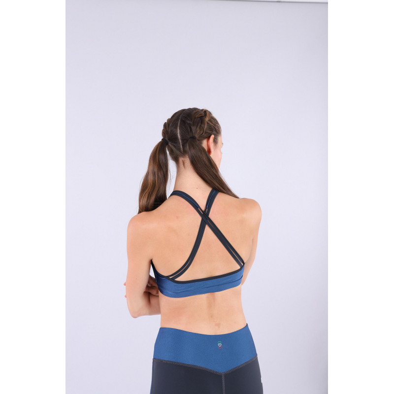 D.I.W.O® Yoga-Top - Made in Italy - Blue Ink- B107B