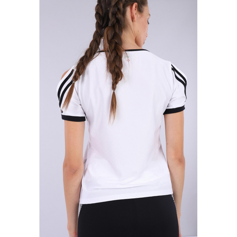 Yoga Shirt - Made in Italy - White - Black - WN0