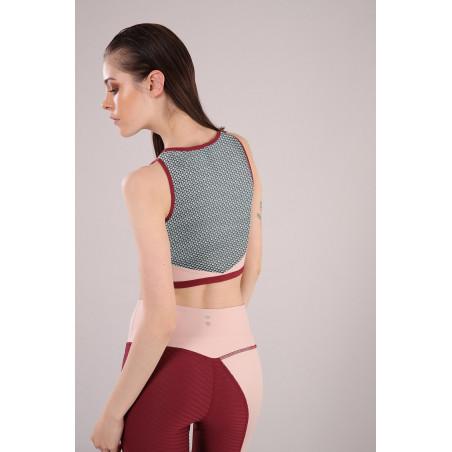 Yoga Top - Made in Italy - Cameo Rosé - Cordovan - P106K0
