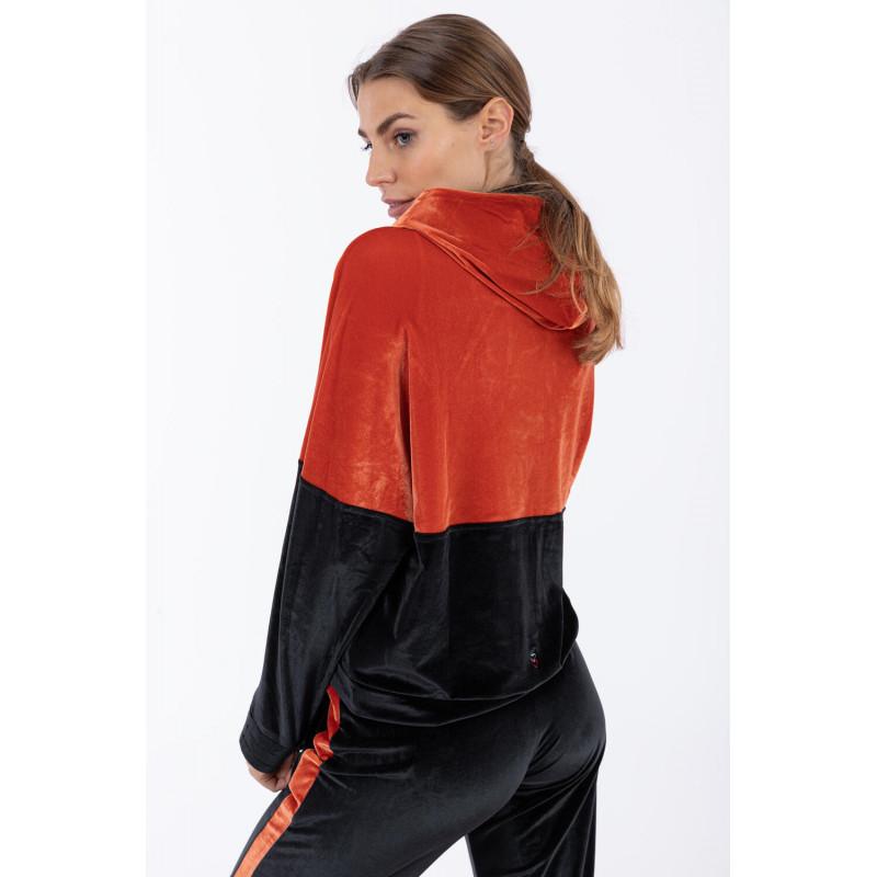 Freddy Sweatshirt - aus Chenille - Made in Italy - Arabesque - Black - A105N0
