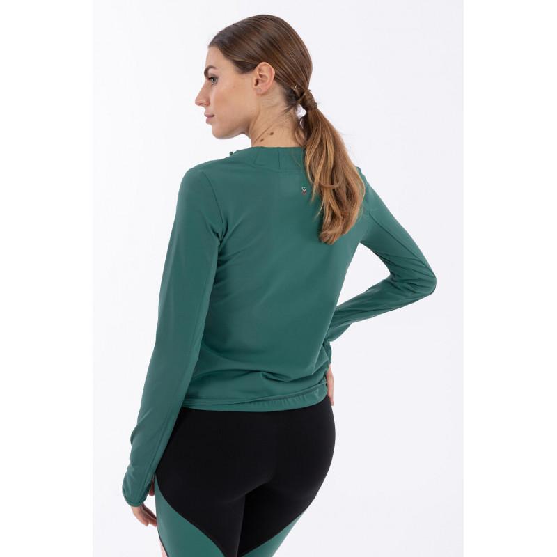 Yoga Sweatshirt - aus technischem Bio D.I.W.O.® Gewebe - Made in Italy - Smoke Pine - V370
