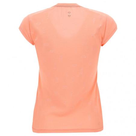 Yoga T-Shirt - mit Aufdruck - Made in Italy - Blooming Dahlia - P1110