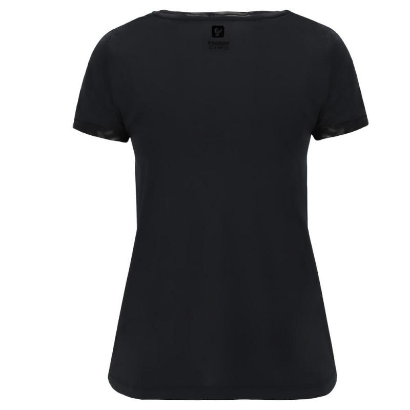 Freddy D.I.W.O.® T-Shirt - mit Maxi-Logo - Black - N0