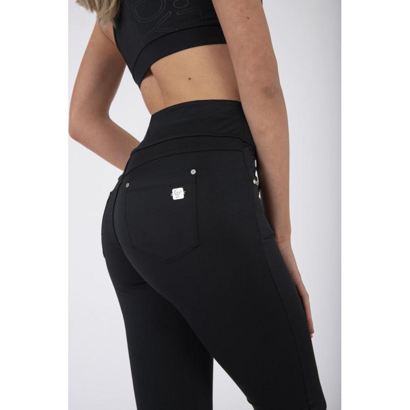 N.O.W.® D.I.W.O.® Yoga - Skinny mit umschlagbarem Taillenbund - Black - N0