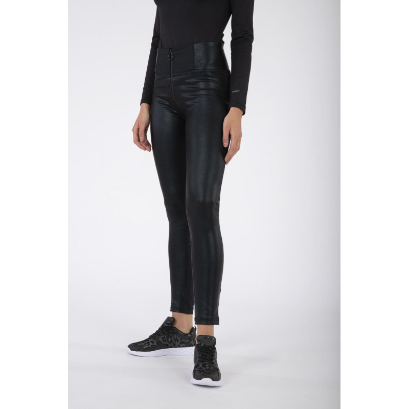 WR.UP® - High Waist Skinny - Ecoledereinsätze mit Lurex-Effekt - All-Black - N0