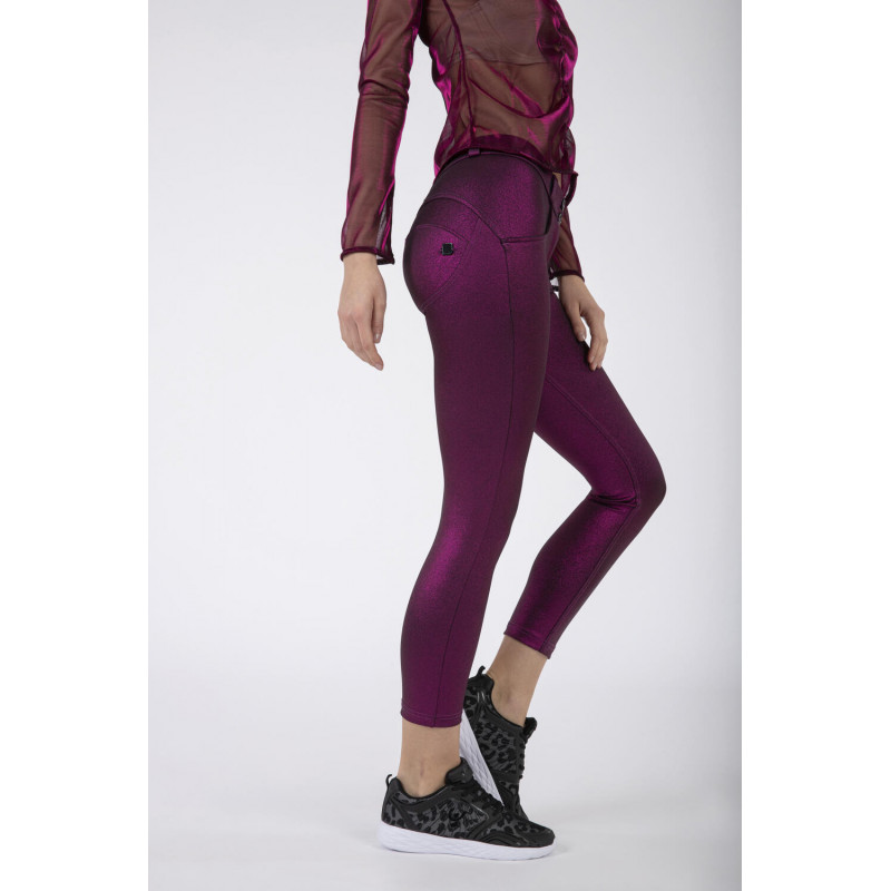 WR.UP® - 7/8 Regular Waist Skinny - Metallic Effekt - Fuchsia Metalized - F970