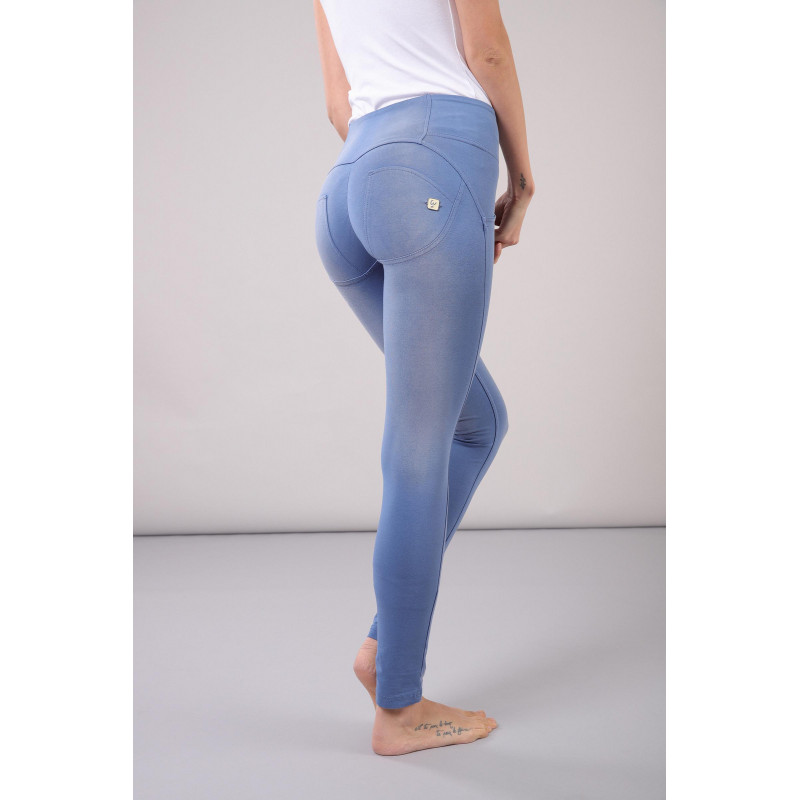 WR.UP® - Mid Waist Skinny - Faded Look - Blue Atlantide - B1020
