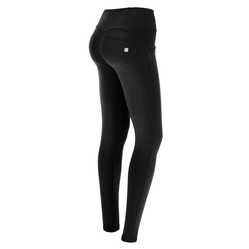 WR.UP® - Mid Waist Skinny - Faded Look - Black - N0