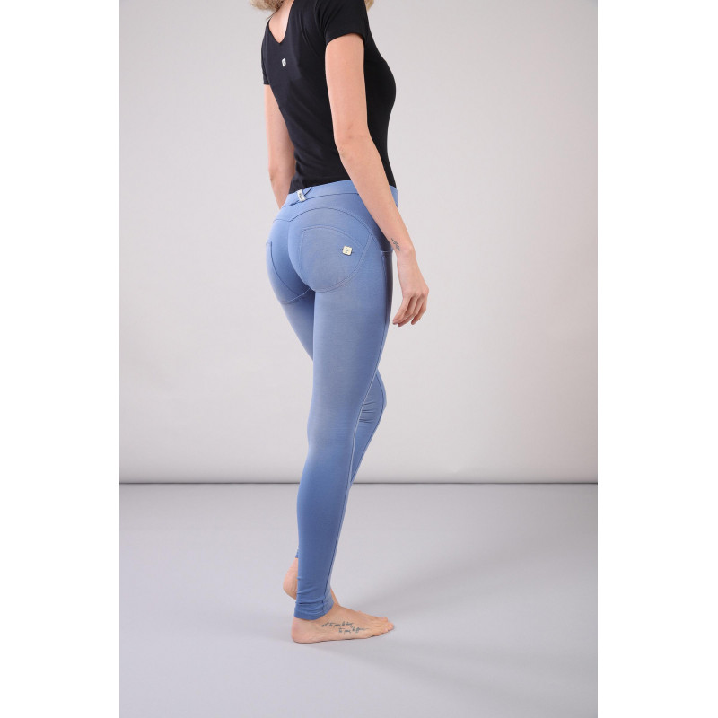 WR.UP® - Regular Waist Super Skinny - Faded Look - Blue Atlantide - B1020
