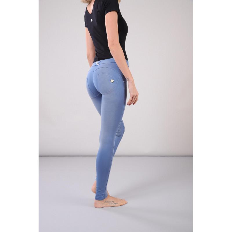 WR.UP® - Regular Waist Super Skinny - Faded Look - Blue Atlantide - B1020