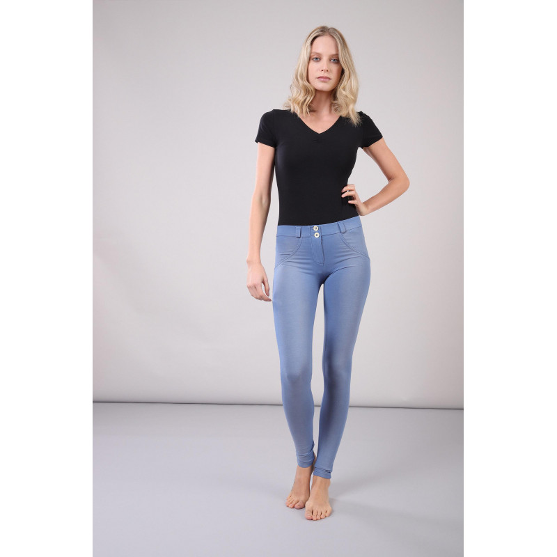 WR.UP® - Low Waist Skinny mit Shaping-Effekt aus Ecoleder