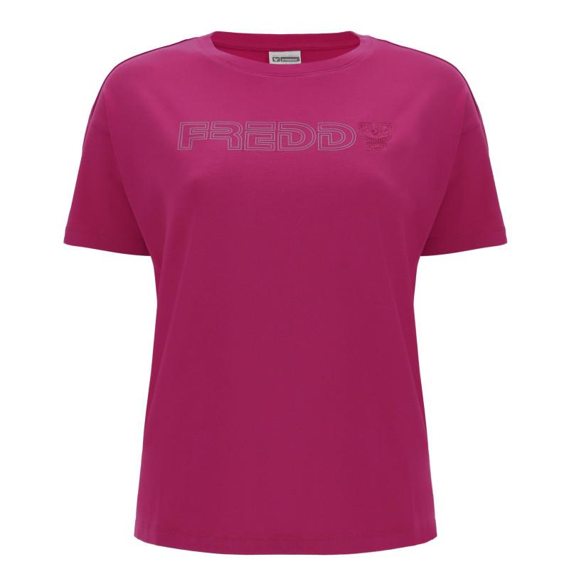 Kurzarm Freddy T-Shirt - Sangria - F58