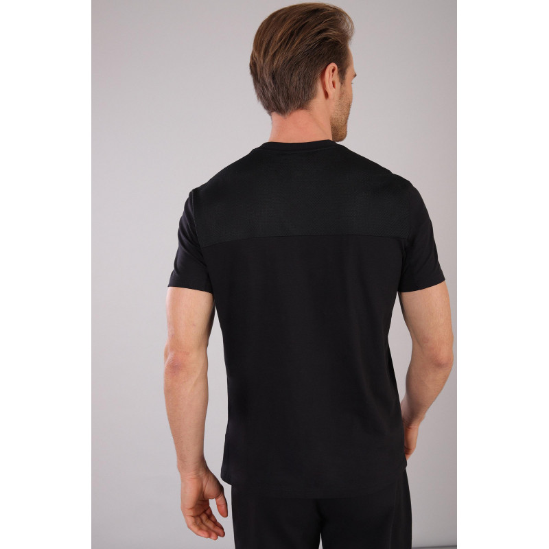 Herren T-Shirt mit Reißverschluss-Tasche - Black - N0