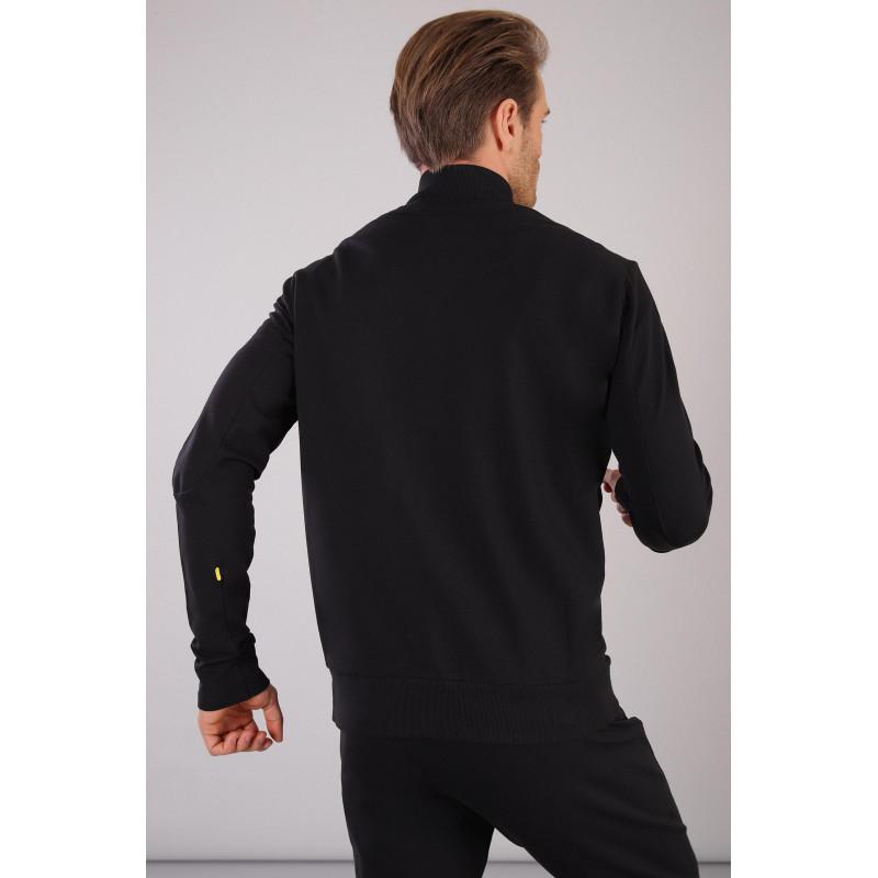 Herren Sweatshirt mit Brusttasche - Black - N0