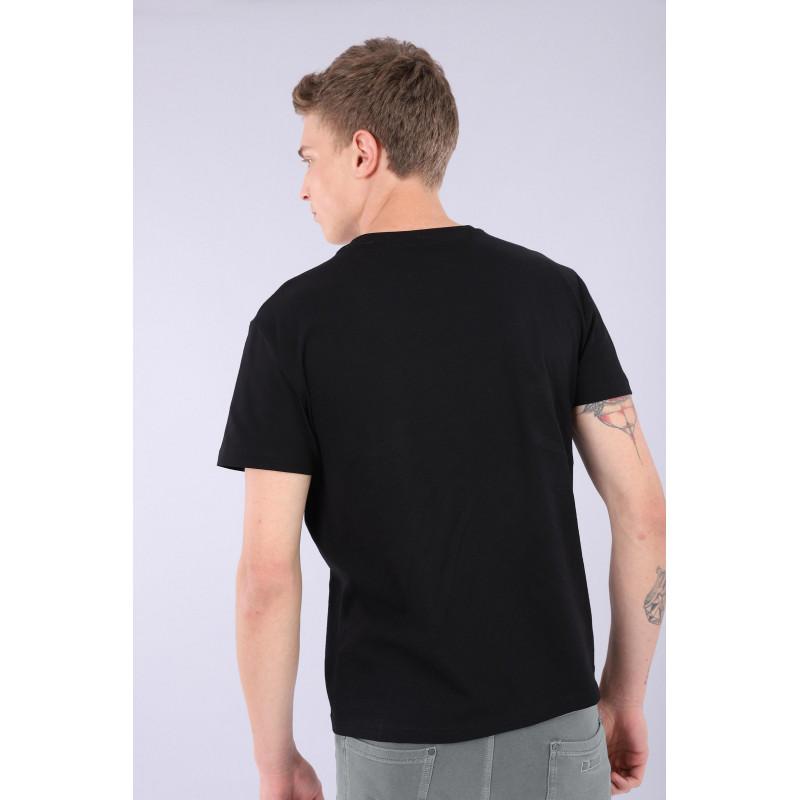 Herren T-Shirt - Black-Dawn Blue - NI25