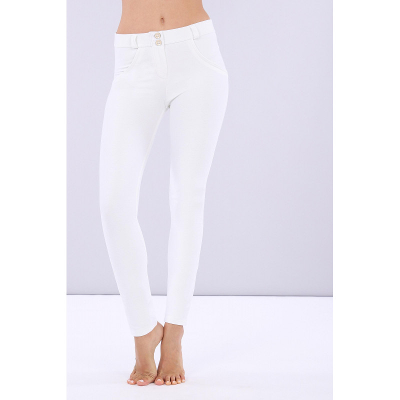 WR.UP® - Regular Waist Skinny - Made in Italy - Drill - White - W0