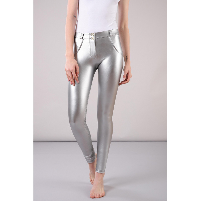 WR.UP® - Regular Waist Super Skinny - Metallic Effekt - Silver - S0
