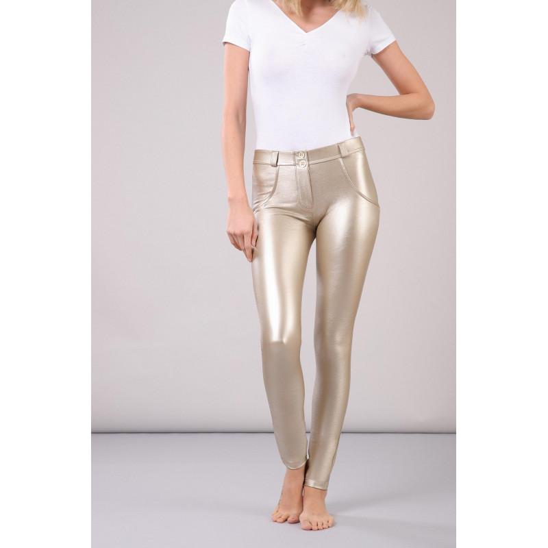 WR.UP® - Regular Waist Super Skinny - Metallic Effekt - Light Gold - O10