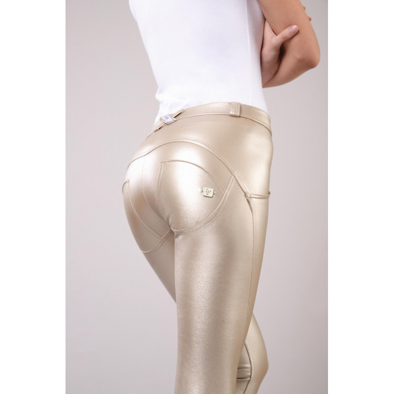 WR.UP® - Regular Waist Super Skinny - Metallic Effekt - Light Gold - O10