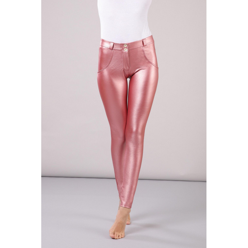 WR.UP® - Regular Waist Super Skinny - Metallic Effekt - Metallic Pink - P1030