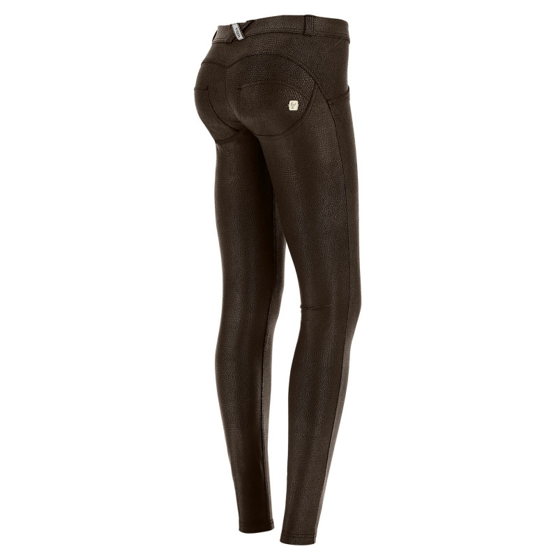 WR.UP® - Regular Waist Skinny in Pythonlederoptik - Brown - M120